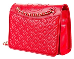 96922d3ee959 Tory Burch Patent Patent Leather Quilted Chain Gold Gold Hardware T Logo  Monogram Reva New Fleming