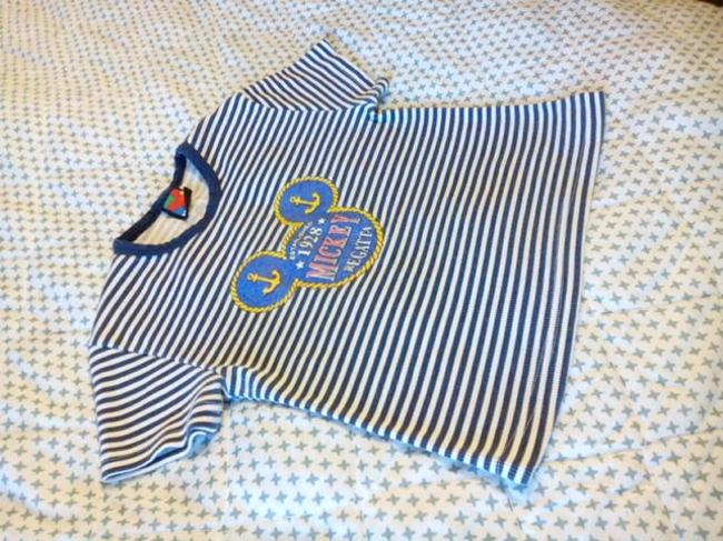 Mickey Unlinited Top Blue and White / with Logo /1928 Mickey Regatta Image 1