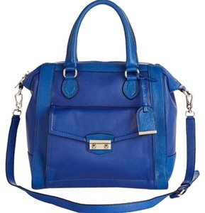 Cole Haan Leather Convertible Satchel in Blue