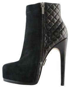 Truth or Dare by Madonna Stiletto Suede Black Boots