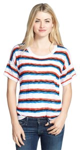 Kensie Anthropologie Knit Shirt Top Black, White, Red, Blue
