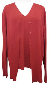 Eileen Fisher Button Down Shirt Crimson Ruby Red