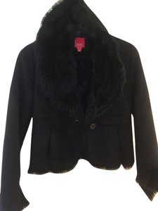 Esprit Fitted Fake Fur Faux Fur Fun Fur Coat