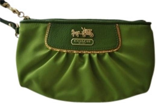 Coach Chartreuse Green Clutch