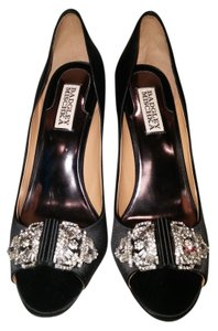 Badgley Mischka Party Crystal Evening Sparkle Black Formal