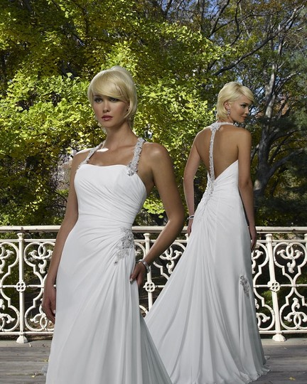 Forever Yours Wedding Gowns: Forever Yours International White Chiffon 410224 Feminine