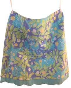 Lilly Pulitzer Pulitizer Mini Cotton Skirt aqua / purple/ green