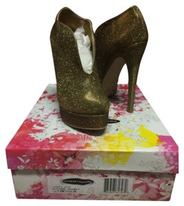 Chinese Laundry Glitter Sparkle Heel Glitz gold Boots