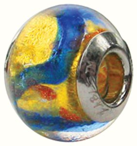 Zable Zable Murano Glass, 925 Sterling Silver Bead Charm