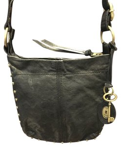 Fossil Leather Messenger Cross Body Bag