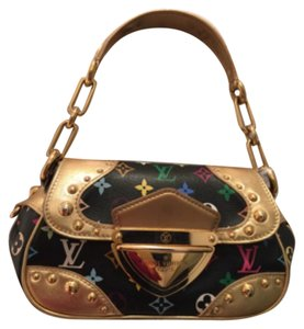 Louis Vuitton Satchel in Black/Gold
