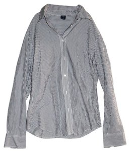 Gap Top Gray/White Stripes