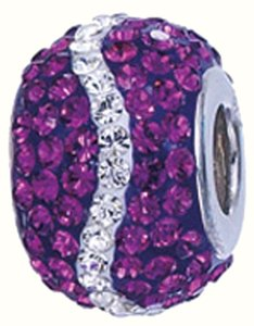 Zable ZABLE Crystal ,925 Sterling Silver Bead Charm