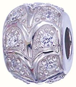 Zable ZABLE 925 Sterling Silver Bead Charm With CZ
