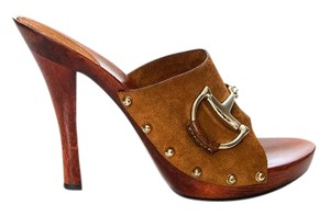 Gucci Heels Brown Platforms