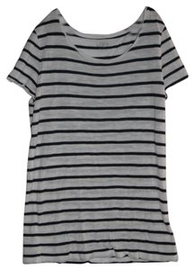 Ann Taylor LOFT T Shirt Black and White