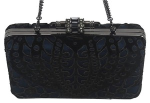 Judith Leiber Made Black and Navy Clutch