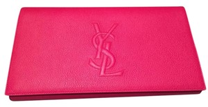 Saint Laurent Ysl Ysl Pink Clutch