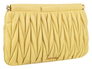 Miu Miu Lemon Yellow Clutch