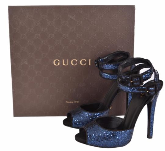 Gucci Strappy Women's Heels Women's Heels Blue Sandals