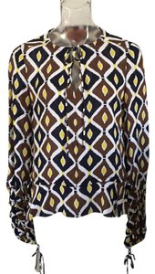 Tory Burch Top Brown, navy blue