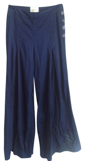 Anthropologie Wide Leg Pants Blue