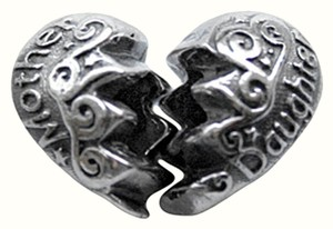 Zable Zable Mother/Daughter, Break Apart 925 Sterling Silver Bead Charm
