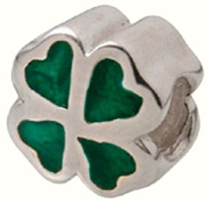 Zable Zable Green Clover 925 Sterling Silver Bead Charm