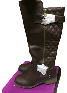 Nature Breeze Quilted Motorcycle Brown Boots