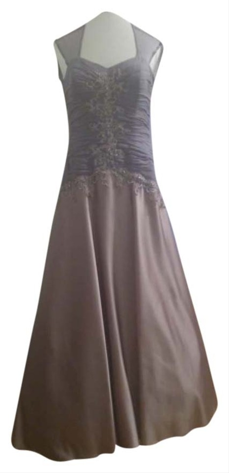 Macy\'s Lavender Silver Fancy Gown Long Formal Dress Size 6 (S) - Tradesy
