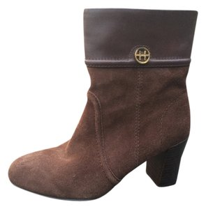 Tommy Hilfiger Winter Suede Leather Logo Brown Boots