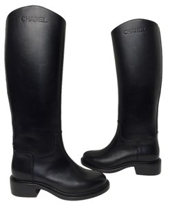 Chanel 39.5 Riding black Boots