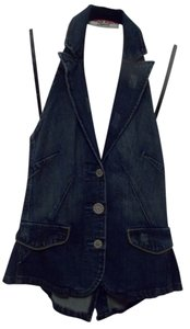 Bisou Bisou Blue Jean Halter Top