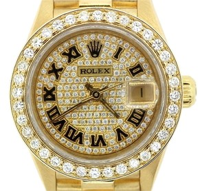 Rolex Ladies Diamond Watch with 18K Gold