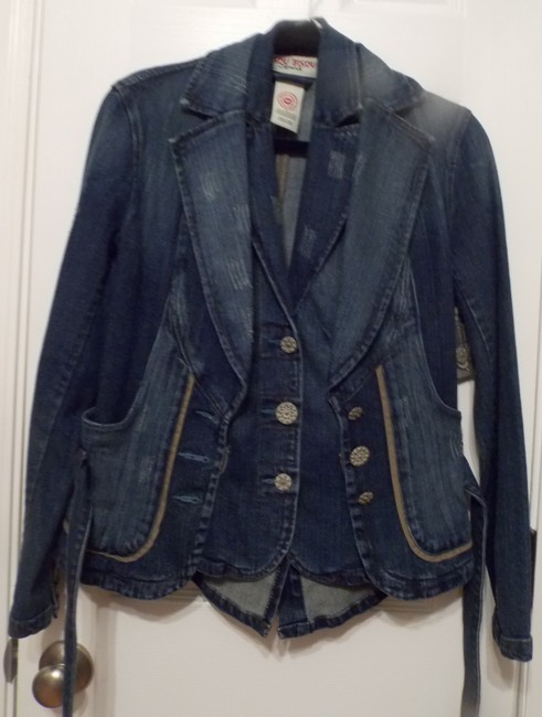 Bisou Bisou Blue Jean Womens Jean Jacket