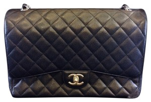 Chanel Quilted Jumbo Classic Handbag Designer Luxury Luxe Red Pockets 13inch Patent Caviar Shoulder Bag