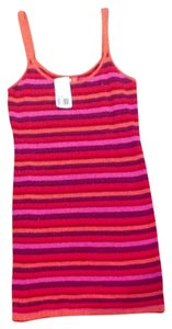 Forever 21 short dress Orange Red Pink Stripes on Tradesy