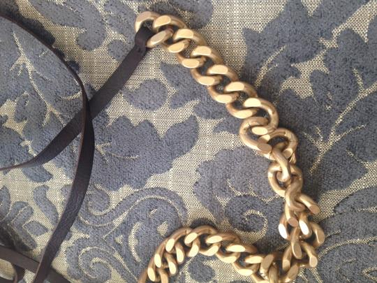 J.Crew Chunky gold chain belt