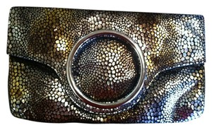 Due Fratelli Purse Black with Gold/Silver Shimmy Clutch