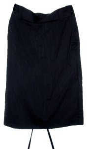 Banana Republic Skirt Black Pinstriped