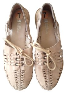 White Mountain Natural Leather Flats