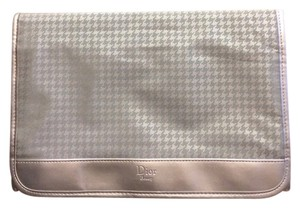 Dior Dior Beauty Silver Houndstooth Cosmetic Bag