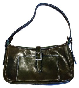 I Medici Vintage Italian Designer Leather Satchel in Green