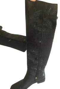 Beatrix Ong Above The Knee Winter Style Croco London Style black Boots