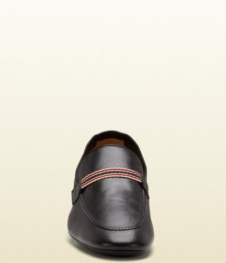 Gucci Leather Loafer Black Flats