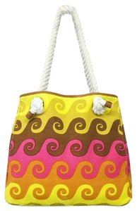 Jonathan Adler Tote in Yellow,Gold Pink