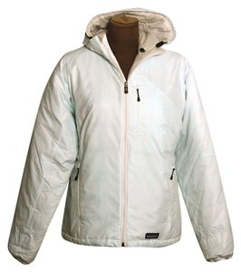 Patagonia And White w/light blue ultra thin stripes Jacket