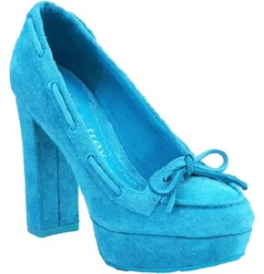 Sperry Nib Top-sider Jeffrey Turquoise Pumps