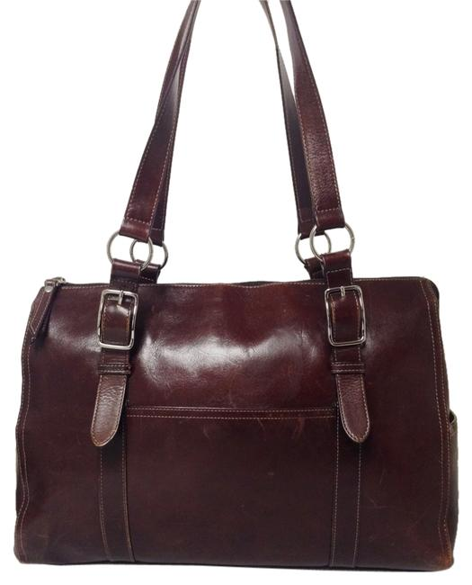 Item - Briefcase Padded Brown Leather Laptop Bag