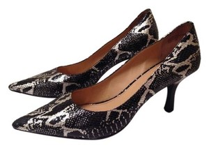 Preview International DOLCI black silver leather snake print Pumps